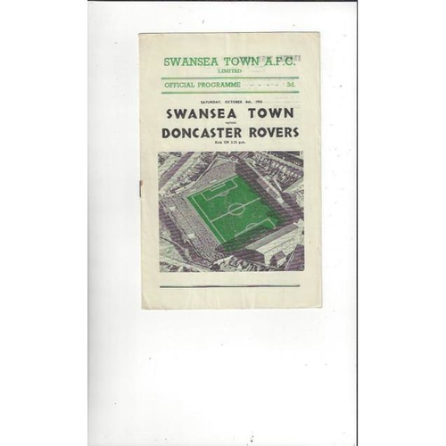 1955/56 Swansea v Doncaster Rovers Football Programme
