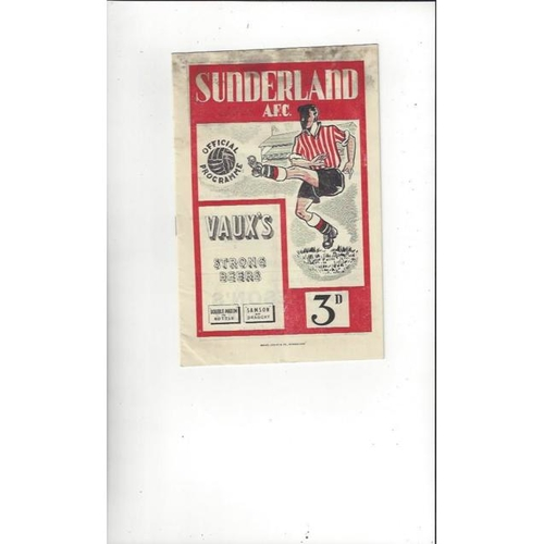 Sunderland Home Football Programmes