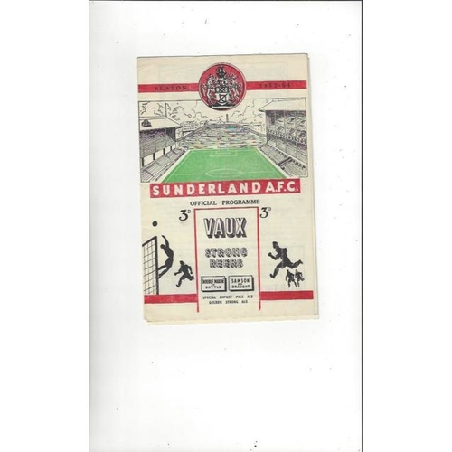 1953/54 Sunderland v Doncaster Rovers FA Cup Football Programme