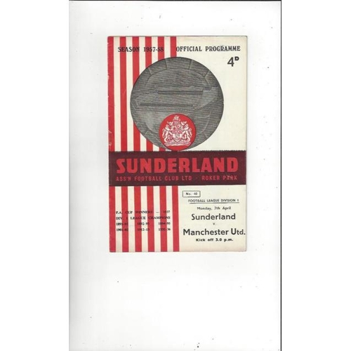 Sunderland Home Football Programmes