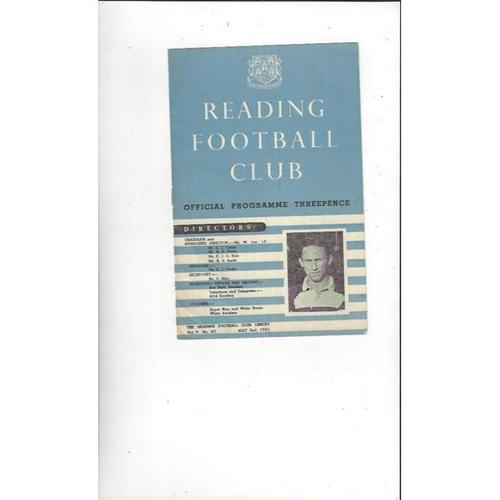 1950/51 Reading v Millwall Football Programme