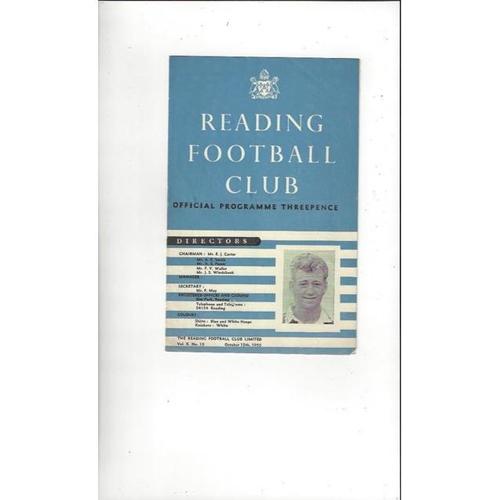 1955/56 Reading v Southampton Football Programme