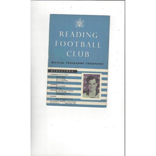 1957/58 Reading v Brighton Football Programme