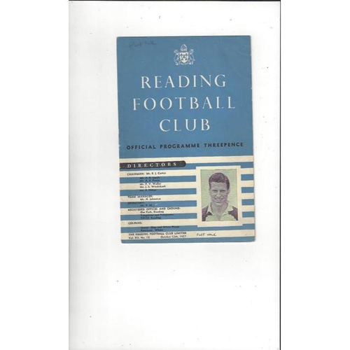 1957/58 Reading v Port Vale Football Programme