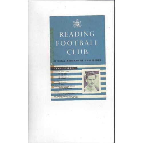 1957/58 Reading v Queens Park Rangers Football Programme