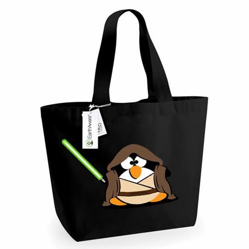 'Fat Jedi Penguin' Marina Tote