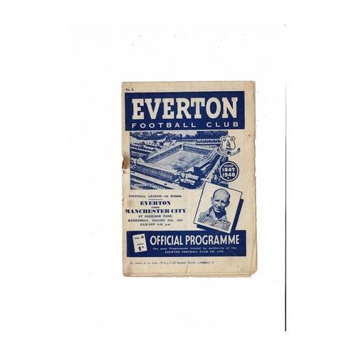 1947/48 Everton v Manchester City Football Programme