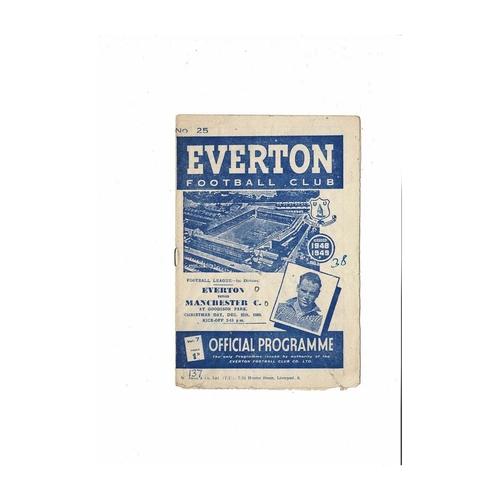 1948/49 Everton v Manchester City Football Programme