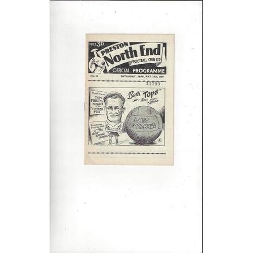 1958/59 Preston v Bradford City FA Cup Football Programme