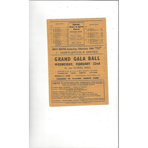 1955/56 Southport v Chesterfield Football Programme