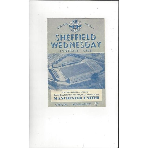 Sheffield Wednesday Home Football Programmes
