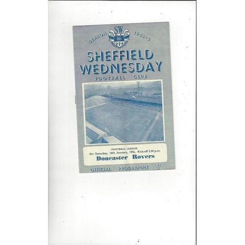 1955/56 Sheffield Wednesday v Doncaster Rovers Football Programme
