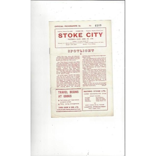 1957/58 Stoke City v Middlesbrough FA Cup Football Programme