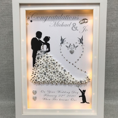 Bride and Groom 3D  light box frame