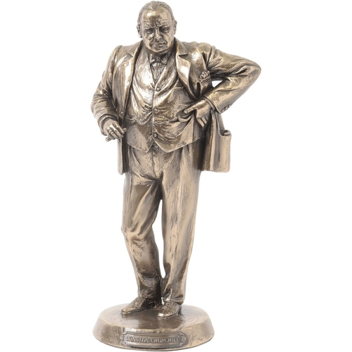 Bronze Finish Winston Churchill Sculpture