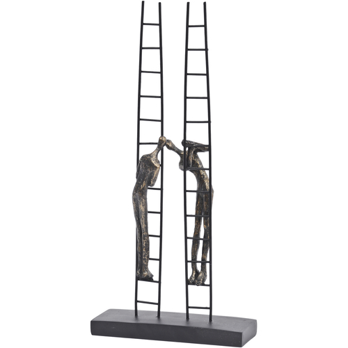 Antique Bronze Double Ladder Sculpture
