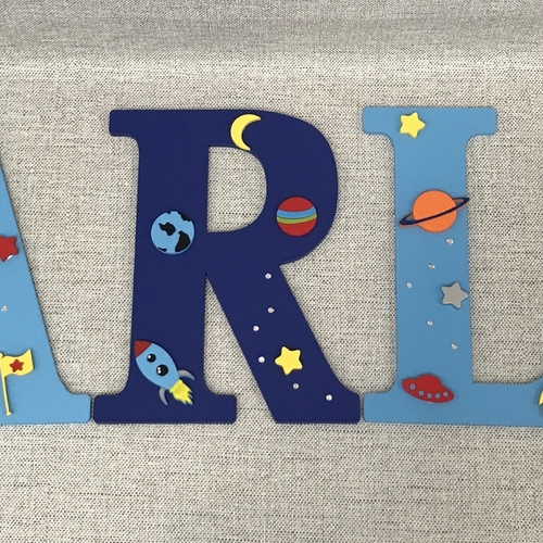 SPACE THEME letters
