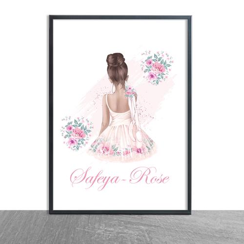 Beautiful Floral Ballerina girl