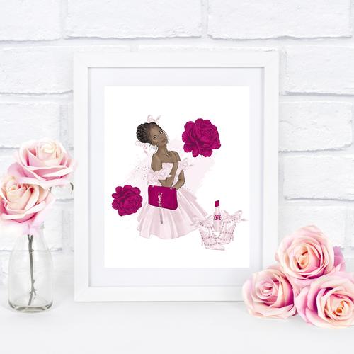 Pink & Fuschia Shoes & Lipstick
