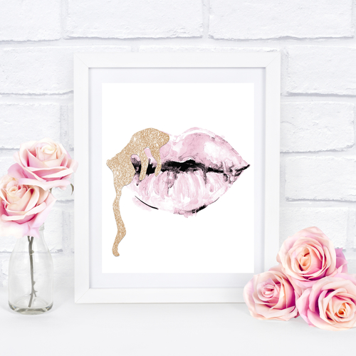 Blush Pink & Nude Lips
