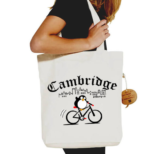 'Cambridge Cyclist' Shopper Tote