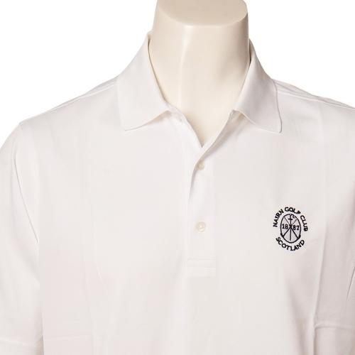 Donald Ross DR015: Short Sleeve Polo - White