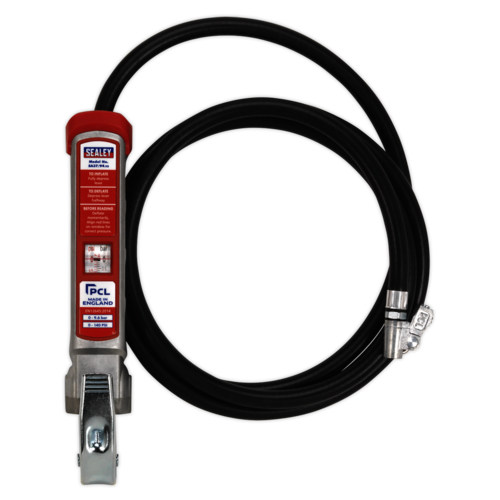 Professional Tyre Inflator with 2.7mtr Hose & Clip-On Connector - SA37/94