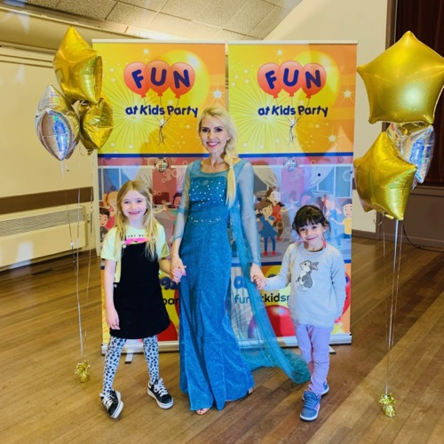 Elsa Party Entertainer with Games, Disco & Snow