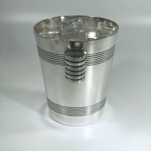 Cute French Art Deco silver plated ice bucket