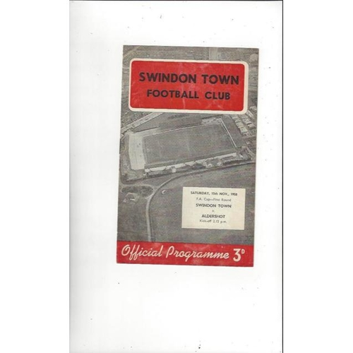 Swindon Town Home Football Programmes