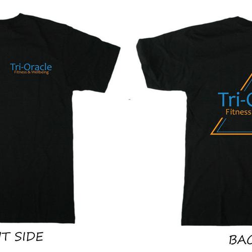 Tri-Oracle Print T-Shirt Black