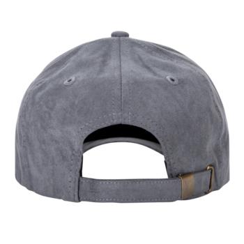 Grey/Black Suede Cap