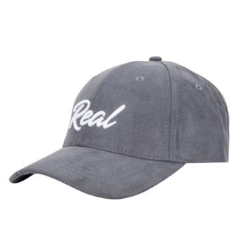 Grey/White Suede Cap