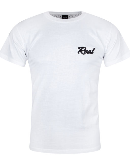 White 3D Real Tee