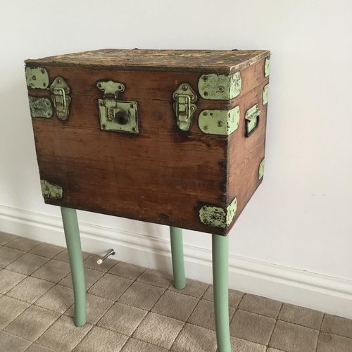 Upcycled Pine Box Table.