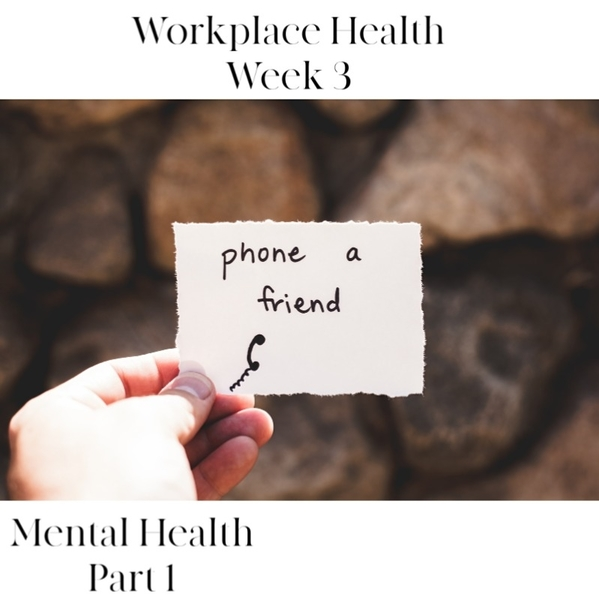 Workplace Health | Week 3 - Mental Health Part 1