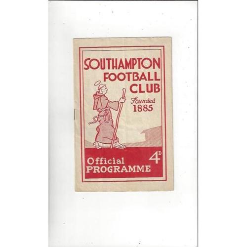 1959/60 Southampton v Colchester United Football Programme