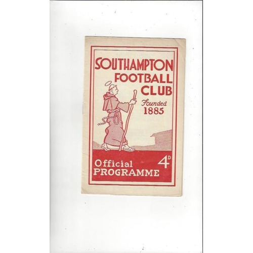 1959/60 Southampton v Southend United FA Cup Football Programme