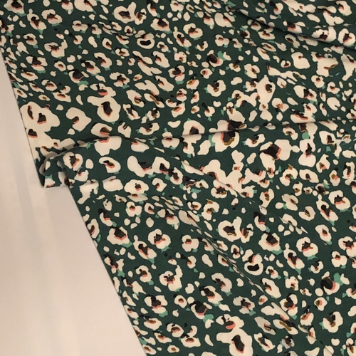 Animal Print Green Tencel Modal Jersey