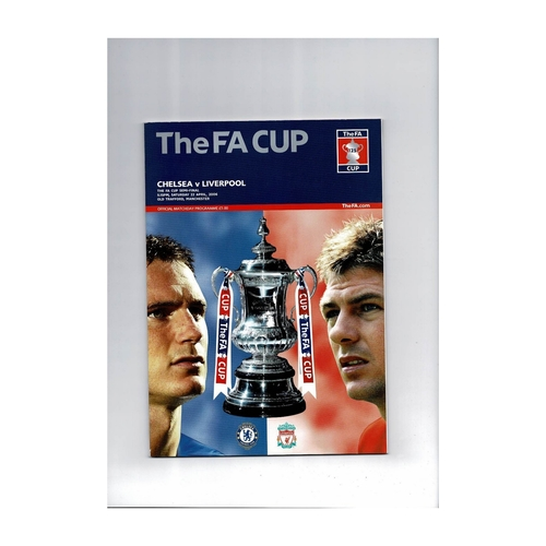 2006 Chelsea v Liverpool FA Cup Semi Final Football Programme
