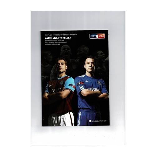 2010 Aston Villa v Chelsea FA Cup Semi Final Football Programme