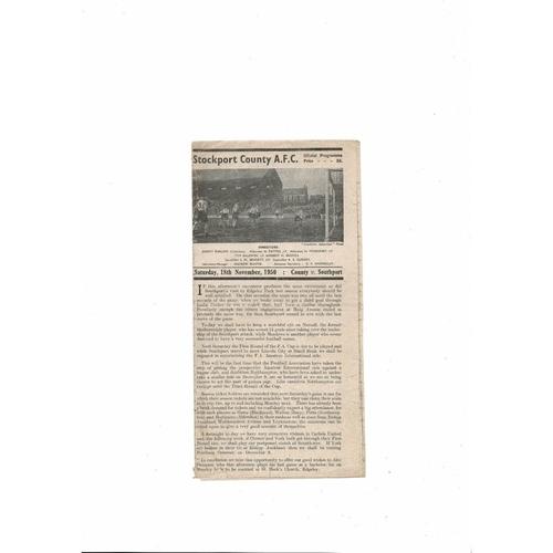 1950/51 Stockport County v Southport Football Programme