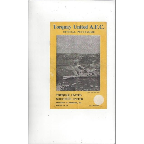 Torquay United Home Football Programmes
