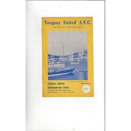 1959/60 Torquay United v Northampton Town FA Cup Football Programme