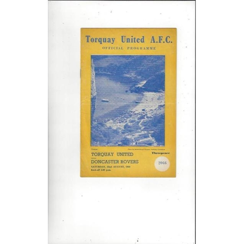 1959/60 Torquay United v Doncaster Rovers Football Programme