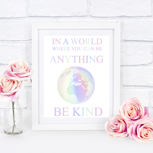 Be Kind Rainbow Design