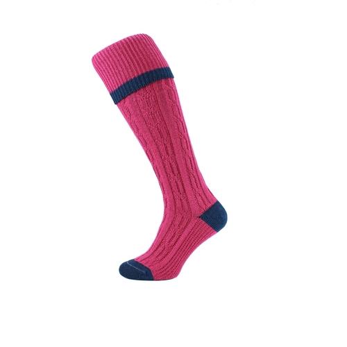 HJ Hall Shooting Sock - Cable Stripe
