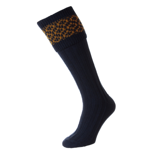 HJ Hall Shooting Sock - Patterned Top
