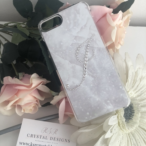 Marble Crystal Initial Case