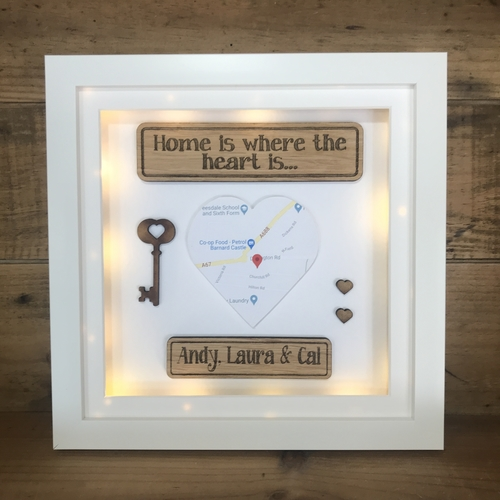 "Traditional ""home is where the heart is "" frame"